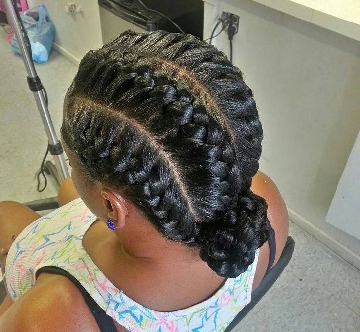 Braided Bun | Hair Styles | Pinterest | Black girl braids