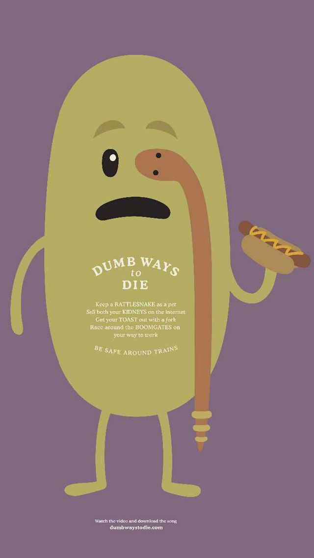 Dumb Ways to DIe_ Snake - Funny Cartoon iPhone wallpapers @mobile9