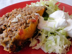 Taco Meat Loaf: Tacos Meatloaf, Sour Cream, Tortillas Chips, Maine Dishes, Mexicans Food, Taco Meatloaf, Meat Loaf, Favorite Recipes, Meatloaf Recipes