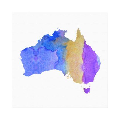 #Colorful australia silhouette canvas print - #nurseryart #nursey #art #baby #cute #print #babies