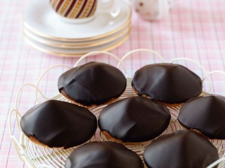 Chokladbiskvier med chokladtryffel