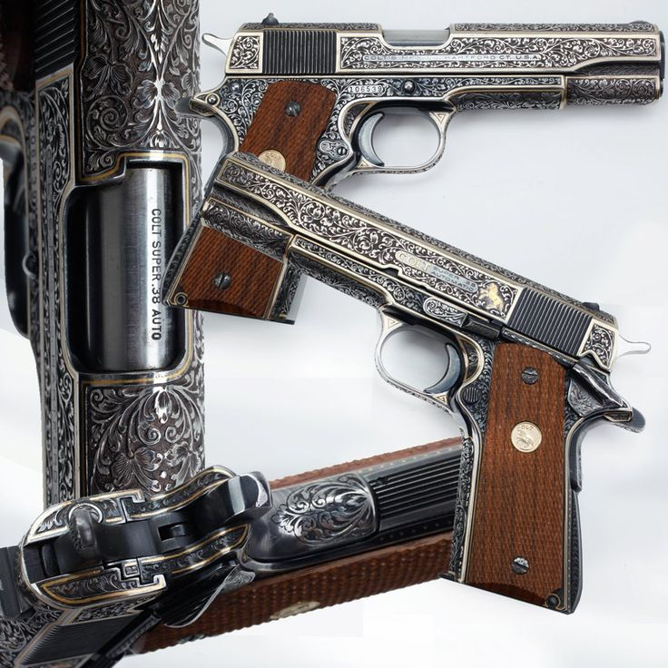 Fully engraved Colt 1911 in .38 Super from the Peterson Collection at the NRA Museum