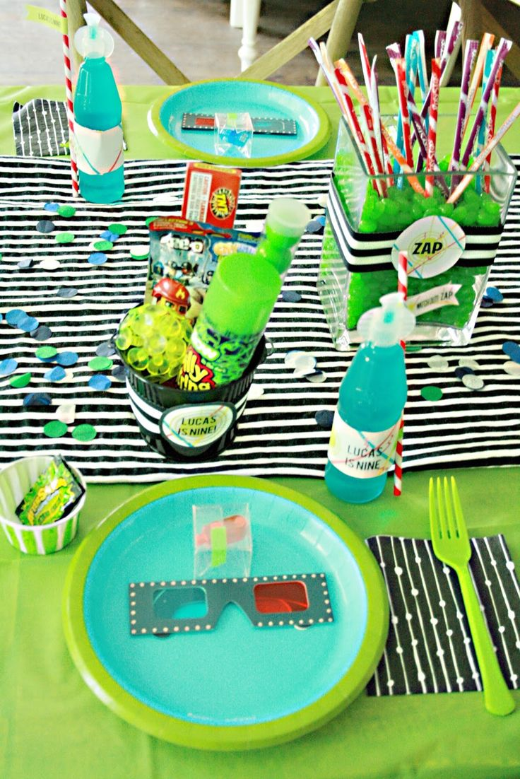 What fun then to have a laser tag birthday party for your son! Fun party favor ideas and games to be played at a laser tag birthday party