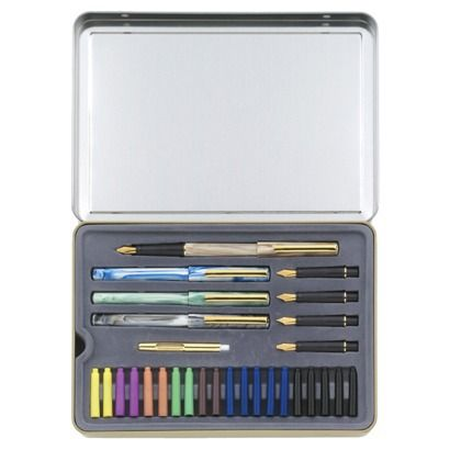 Just got this & can't wait to learn!! Calligraphy Pen 33 Piece Set - My favorite kind of pen!
