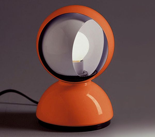 Table lamps: Lamp Eclisse by Artemide | Design: Vico Magistretti | Collection: Modern Classic | Year: 1967 | #design #orange #lamp | http://www.designbest.com/