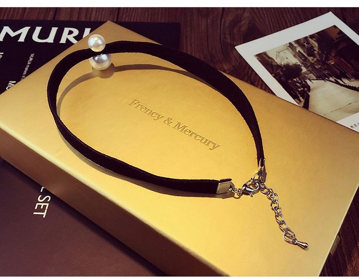✔ Big SALE! ✔ -50% Off! ✭✭✭✭✭  ✈ FREE Worldwide Shipping!  ▶ BLACK CHOKER NECKLACE WITH PEARL | chokers & pendants  ♥●•٠ Order Now! ٠•●♥ #choker #necklace #velvet