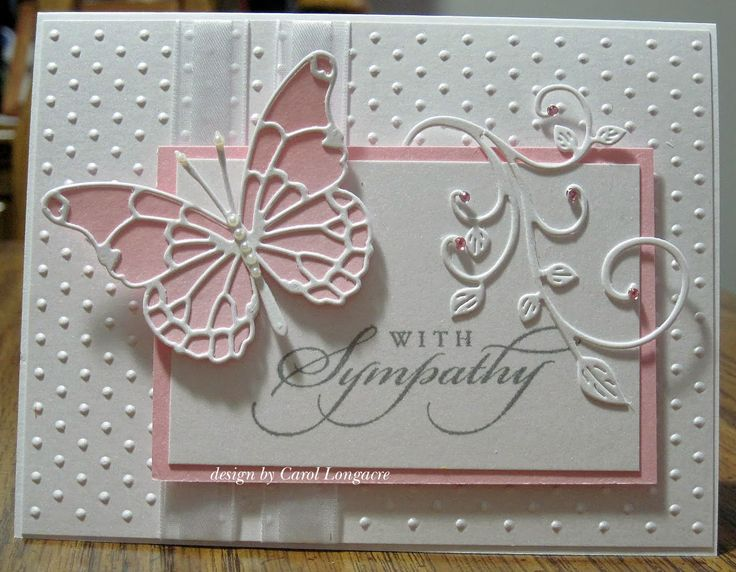 Our Little Inspirations: Memory Box Butterfly Sympathy Card