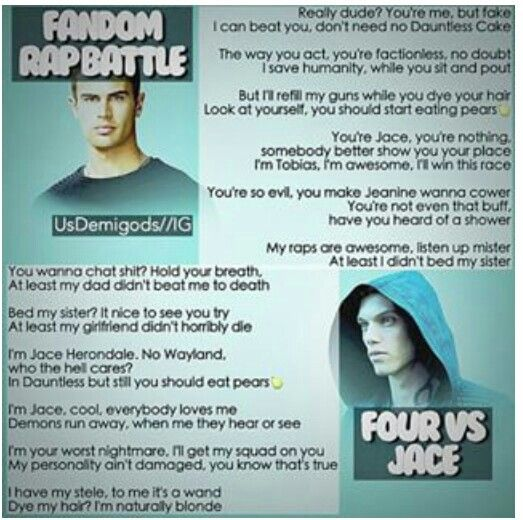 Fandom Rap Battle: Four vs Jace. Who won?