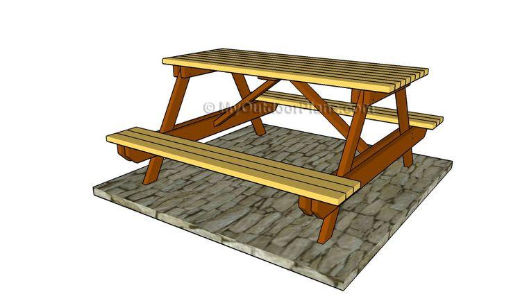 best 25 kids picnic table plans ideas on pinterest kids picnic table kids outdoor table and. Black Bedroom Furniture Sets. Home Design Ideas