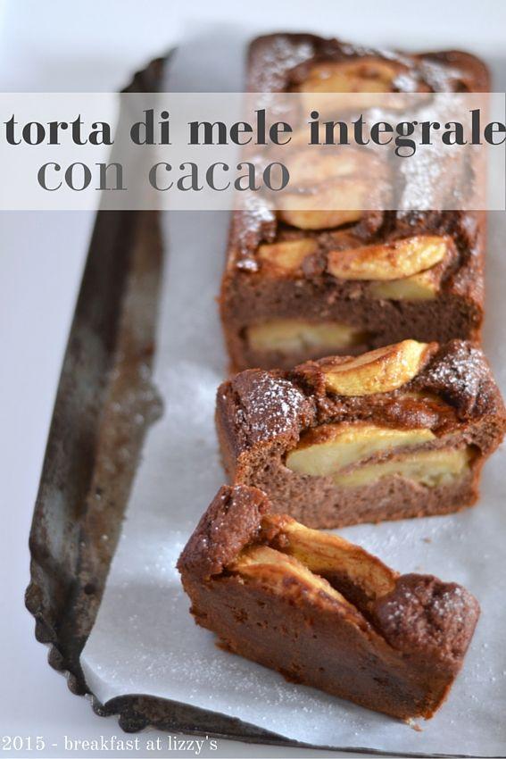 torta di mele integrale con cacao (senza burro, senza olio)