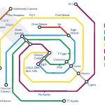 La Vía Láctea como estaciones de tren subterráneo (mapa que guía tu trayecto cósmico)