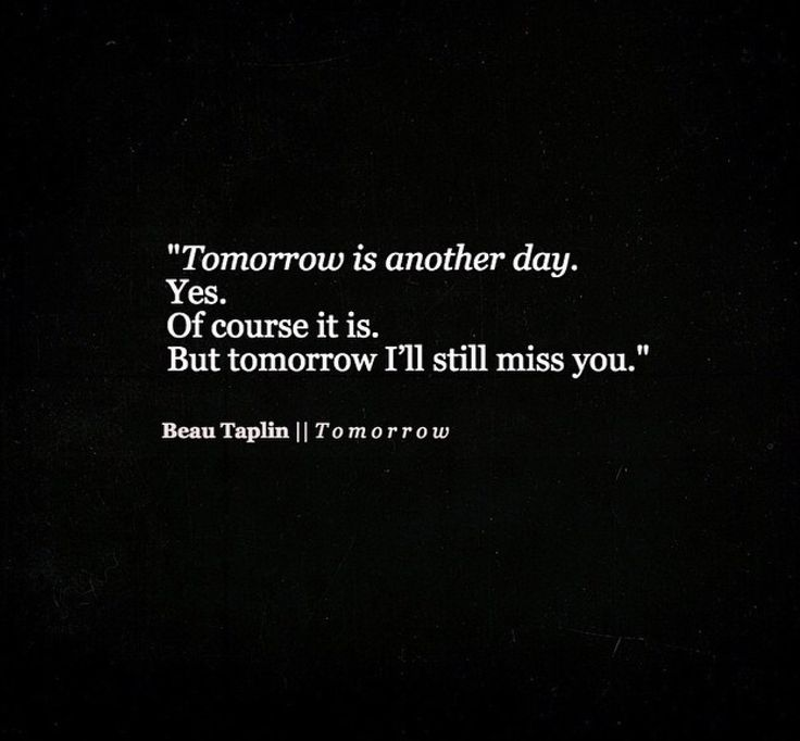 Beau Taplin || Tomorrow