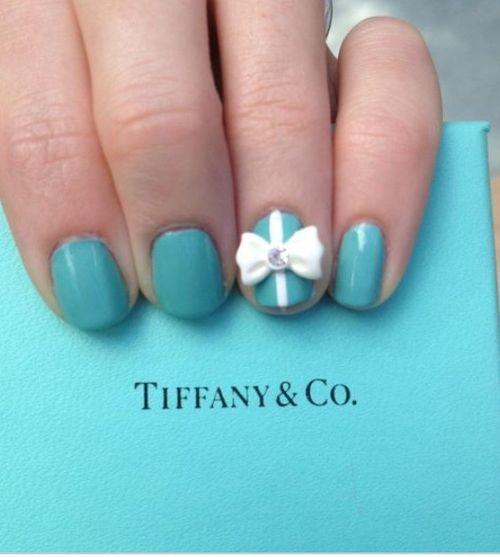 tiffany & co nails = adorable!   CLICK.TO.SEE.MORE.eldressico.com