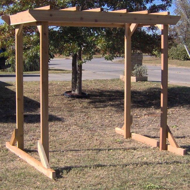 TMP Outdoor Furniture Large Cedar Pergola Arbor Swing Frame Could This Be  Made Long Enough To Give Shade On Front Picture Window And Then Have Swiu2026