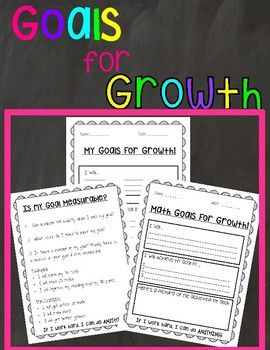 Student Goal Setting.  Goals for Growth.  SMART goals. Measurable goals.