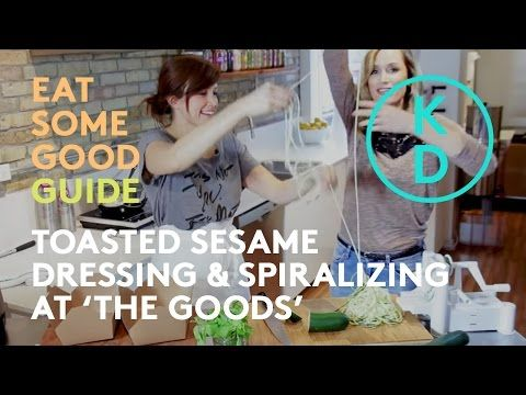 Watch episode 1 of Kim D'Eon's Eat Some Good Guide series. CHUCK NORRIS SALAD w TOASTY SESAME DRESSING (EAT SOME GOOD GUIDE: The Goods) - #YouTube #kimdeon #eatsomegood #zucchininoodles #spiralizer
