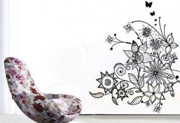 Vinilo decorativo - floral 3
