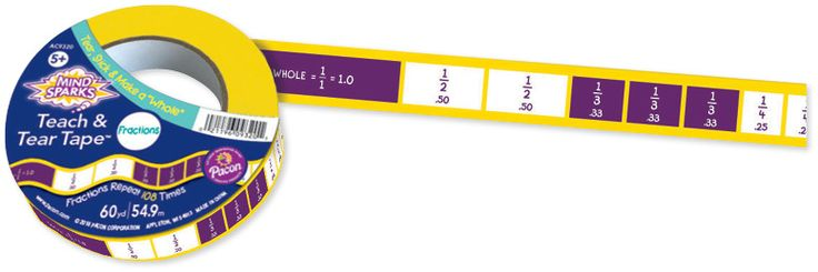 The Teach & Tear Fractions Tape is perfect for learning basic math! Tear, stick and solve equations as a class or one-on-one! Find the Tape in the Classroom Essentials Catalogue: OPUS 3198133 Page 162. See the full pages here: http://www.scholastic.ca/clubs/cec/