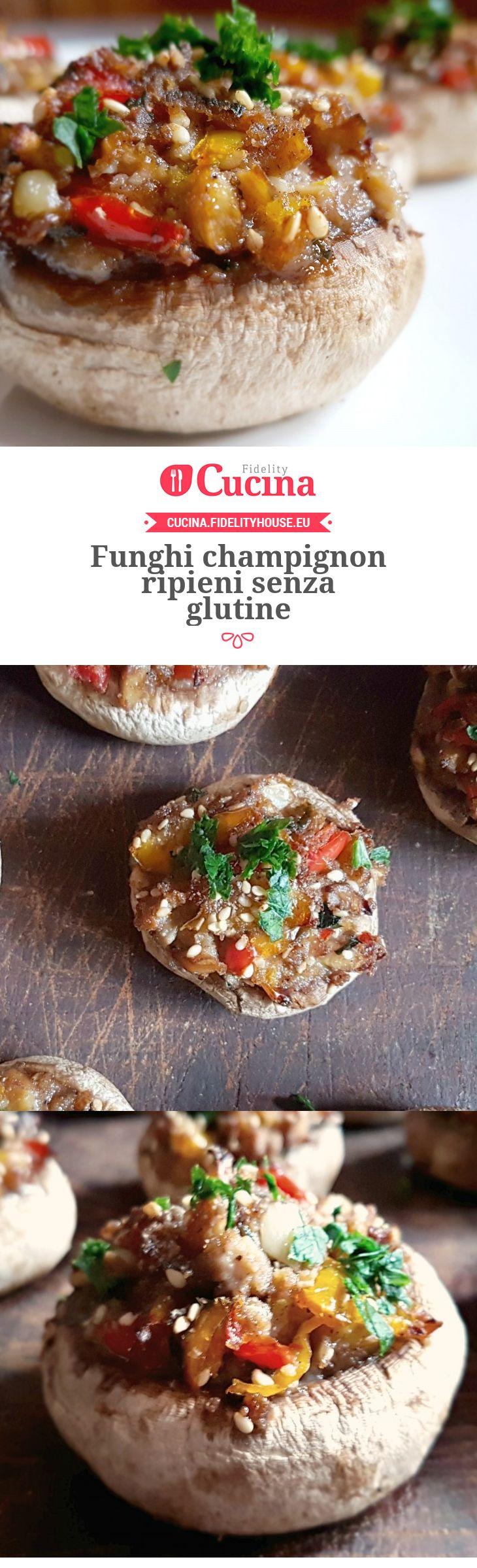Funghi champignon ripieni senza glutine della nostra utente Monica. Unisciti alla nostra Community ed invia le tue ricette!