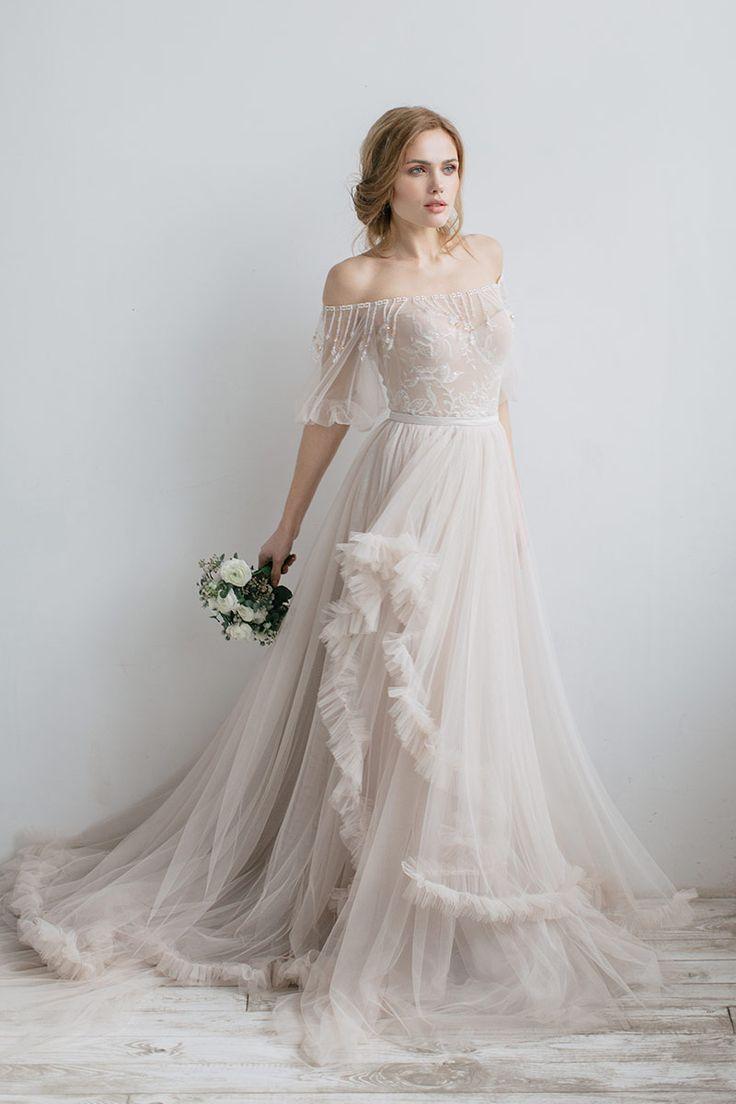 Роскошное свадебное платье Viris с открытыми плечами | Свадебный салон ROMANCE