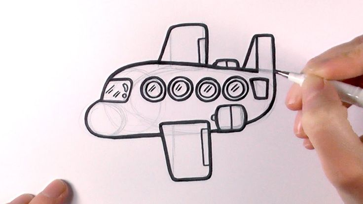 Image result for how to draw cartoon plane