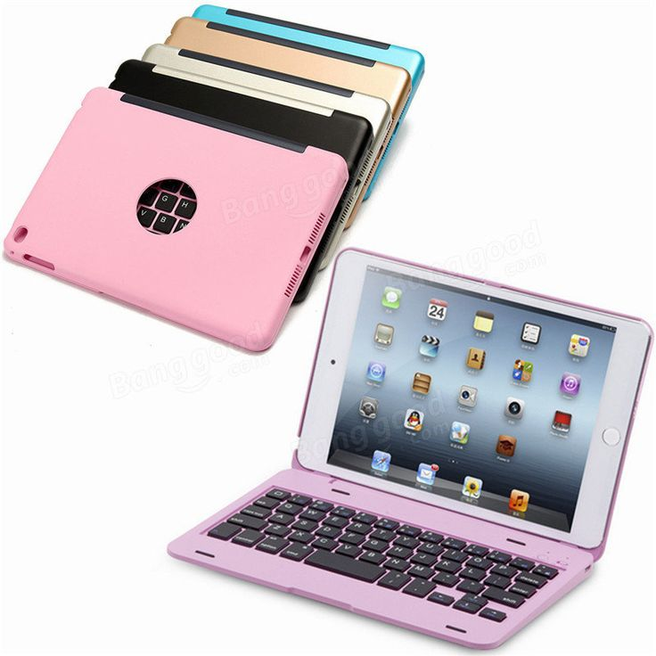 For Apple iPad Mini 4 Folio Rechargeable Wireless Bluetooth Keyboard Smart Case Cover Sale - Banggood.com  #Iphone #smartphones #mobile #cellphones #apple #accessories