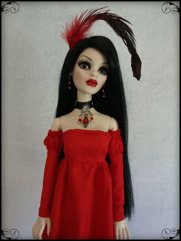Red batiste dress