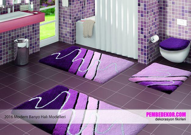 modern banyo halıları