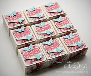 Valentine treat box tutorial * Stampin' Up!