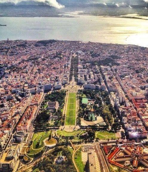 Lisboa vista do ar - lisbon from the sky