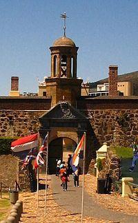 Kasteel de Goede Hoop Gateway - Gateway to the Castle of Good Hope.  Cape Town.  SOUTH AFRICA.