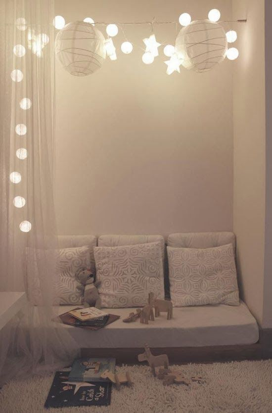 Creating a nook indoors where children can enjoy some alone time, I have a net we can use to make the canopy