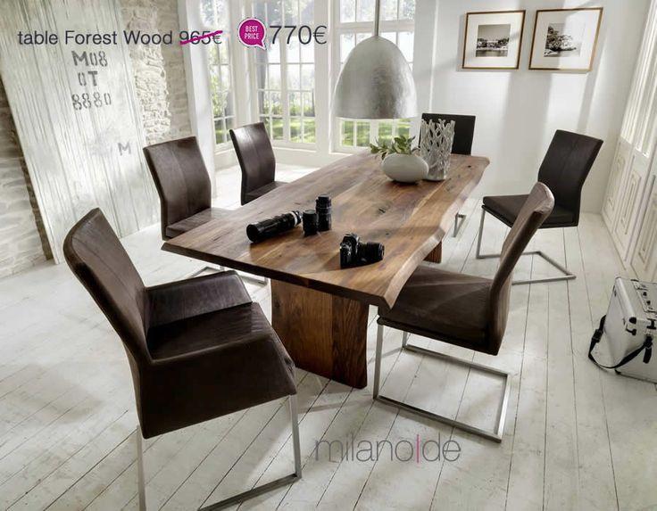 """Σε έναν σχεδιασμό με απλές και διαχρονικές φόρμες & μια """"εσάνς"""" από ρουστίκ και μοναστηριακό, το τραπέζι Forest Wood συνεχίζει επάξια τη δημοφιλή ομώνυμη σειρά επίπλων και μεταμορφώνει την τραπεζαρία σας.  #Τραπέζι #Τραπέζια #Έπιπλα #Μοναστηριακά #Milanode"""