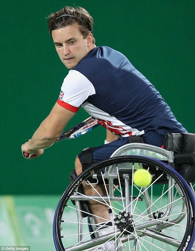 "Gordon ""Gio"" Reid MBE is a Scottish professional wheelchair tennis player, ranked world No.1 in singles and world No.3 in doubles.He is a paralympic gold medallist and 2 time singles grand slam champion"