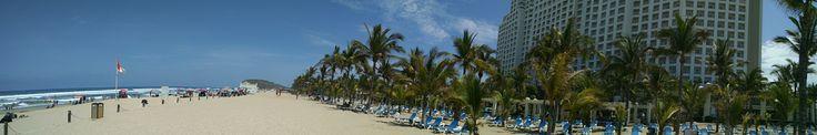 Panoramic photo from the hotel Riu Emerald Bay, Mazatlán