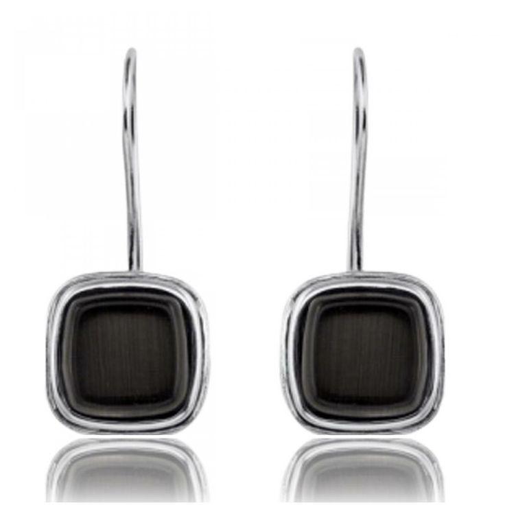 Oeil de chat noir earings - Xc38