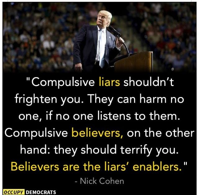 Trump Supporters. Liars and Enablers.