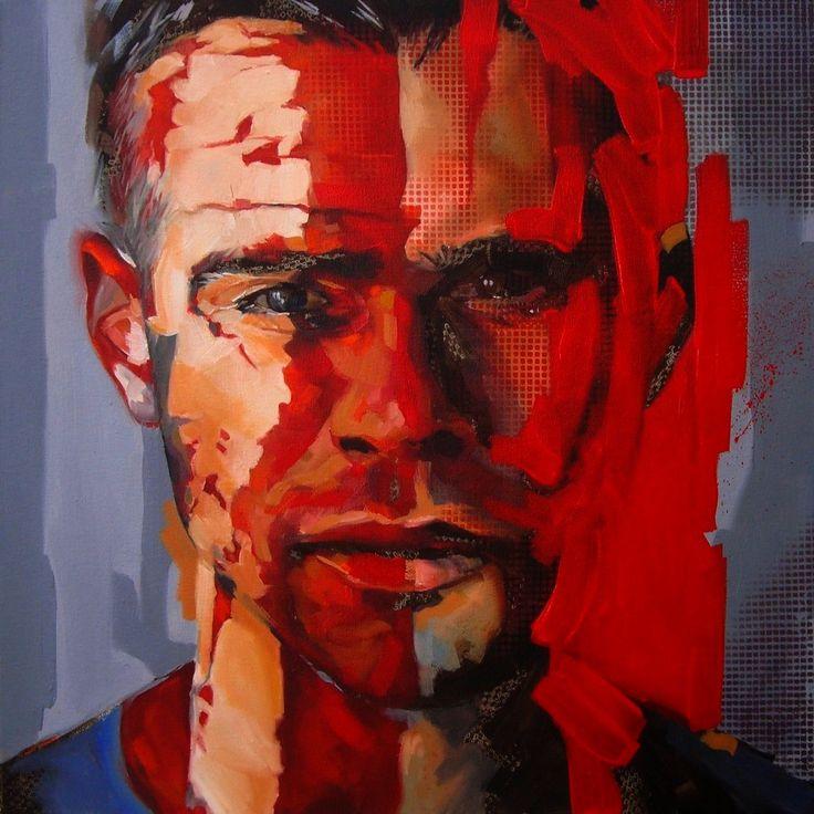 Red Rain 2015 by Corne Eksteen, Oil on canvas 600 x 600mm