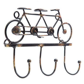 Tandem Bicycle Metal Wall Hook