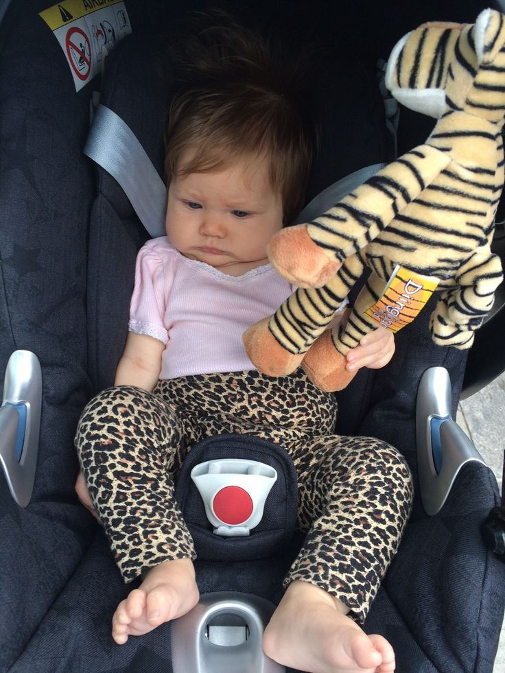 Elle travelling in her CYBEX car seat