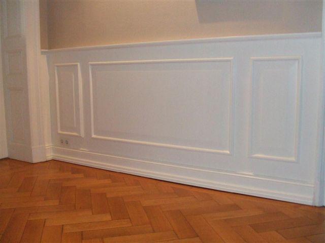 Wandvertäfelung Holz weiß