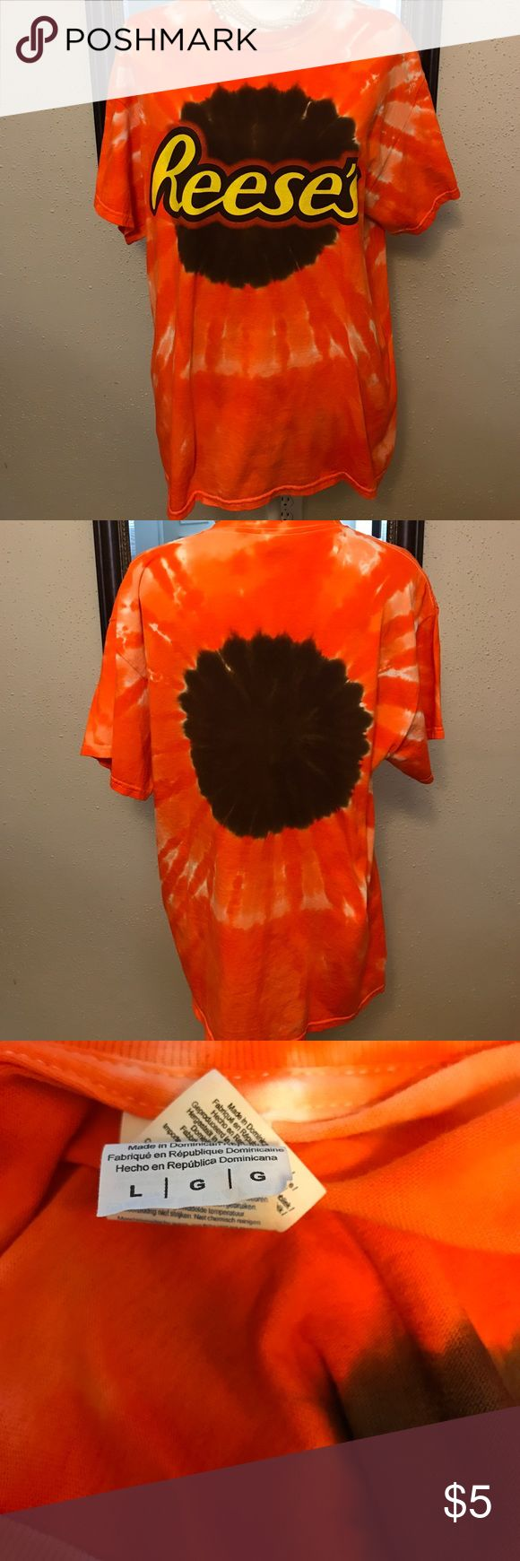 Reece's tie dye t-Shirt sz L Great condition no rips holes or stains from a smoke free home Tops Tees - Short Sleeve