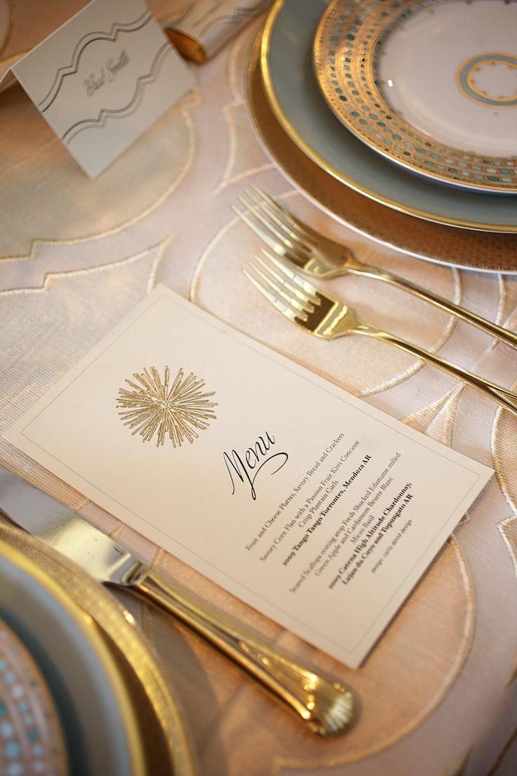 Tabletop Design || gold & light blue || Stephanie Bradshaw, A Creative Studio