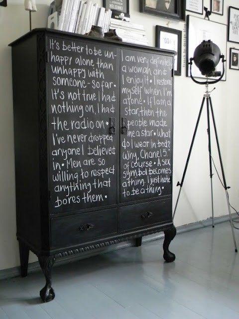 Chalkboard Painted Furniture