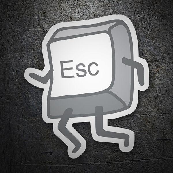 Pegatinas: Tecla ESC #coche #pegatina #sticker