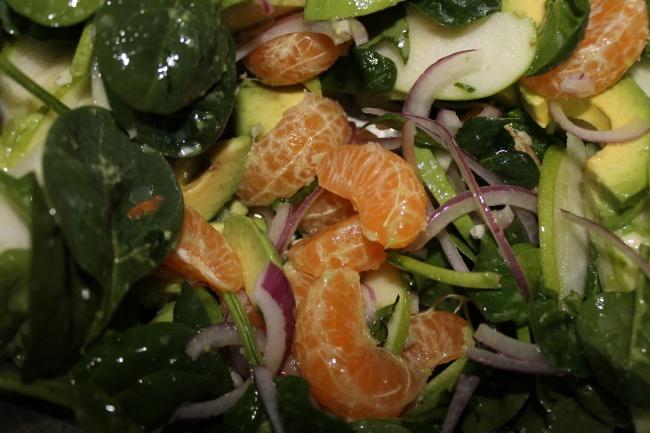 Tangerine salad - so healthy, delicious, seasonal and EASY!