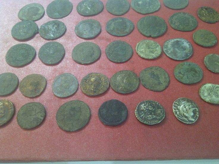 ROMAN coins, LOT,  35 psc coins 30 percent cleaned-end 2psc SILVER COINS