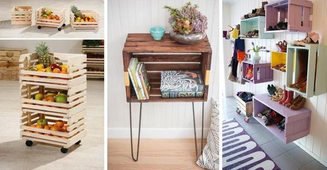 15 genialnych pomysłów na meble wykonane z drewnianych skrzynek [WEJDŹ I ZOBACZ] #MEBLE #ZE #SKRZYNEK #DIY