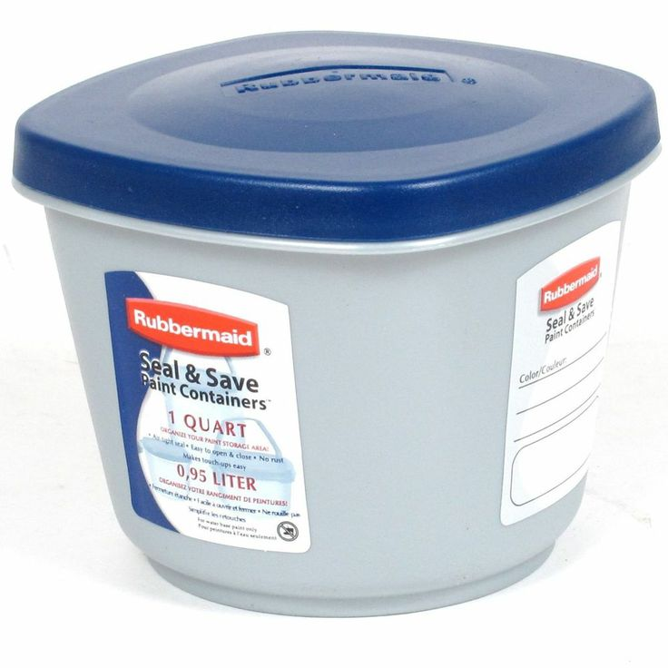 rubbermaid seal n save paint sealable container 1 qt