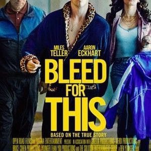 BLEED FOR THIS is the incredible true story of one of the most inspiring and unlikely comebacks in sports history. Miles Teller (Whiplash, Divergent) stars as Vinny